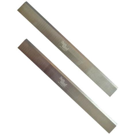Jeu de 2 fers de dégauchisseuse/raboteuse 260 x 20 x 2.5 mm acier HSS (les 2 fers) - Diamwood