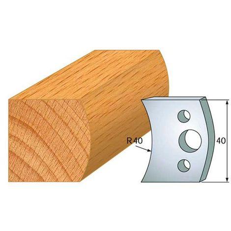 Jeu de 2 fers profilés acier Ht. 40 mm N°008 Main courante - 800.008 - Leman - -