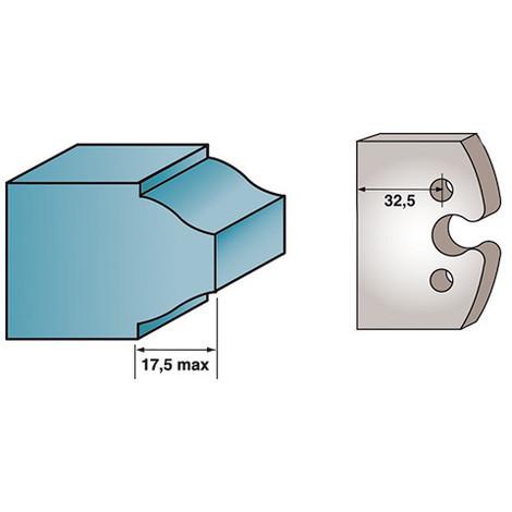 Diamwood Platinum Diamwood Platinum 40 x 4 mm boudin double M51 pour porte-outils de toupie Jeu de 2 fers profil/és Ht