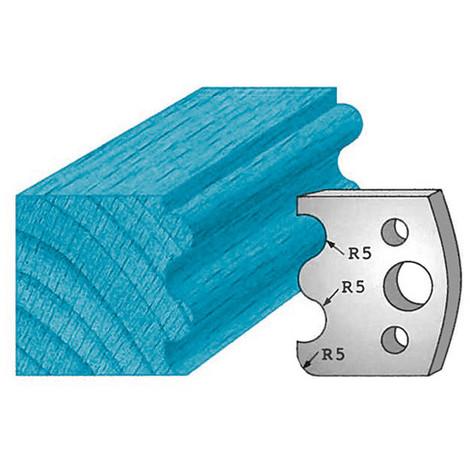 Jeu de 2 fers profilés Ht. 40 x 4 mm double tourillons M06 pour porte-outils de toupie - Diamwood Platinum
