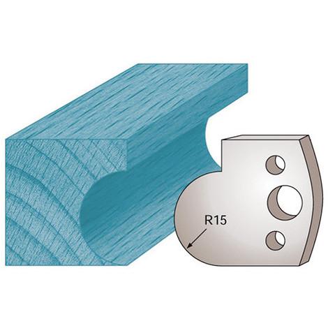 Jeu de 2 fers profilés Ht. 40 x 4 mm gorge M65 pour porte-outils de toupie - Diamwood Platinum