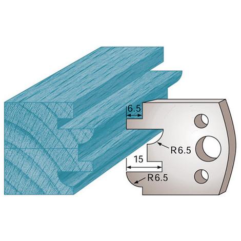 Jeu de 2 fers profilés Ht. 40 x 4 mm profil / contre-profil M96 pour porte-outils de toupie - Diamwood Platinum