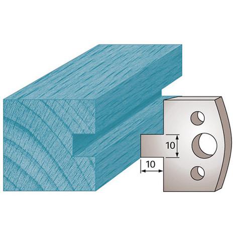 Hauteur 50 mm Fers de Toupie 2 Trous diam/ètre 6 mm entraxe 24 mm /Épaisseur 5,50 mm