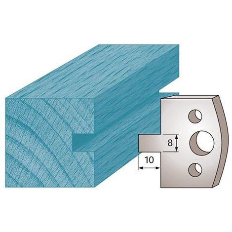 Jeu de 2 fers profil/és Ht Diamwood Platinum 40 x 4 mm BRUT M195 pour porte-outils de toupie Diamwood Platinum