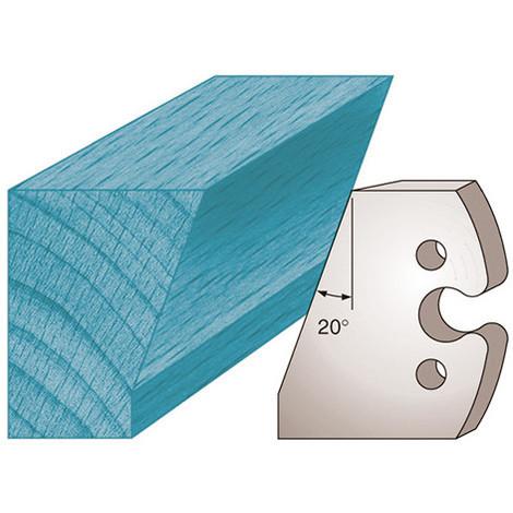 Jeu de 2 fers profilés Ht. 50 x 5,5 mm chanfrein 20° M230 pour porte-outils de toupie - Diamwood Platinum