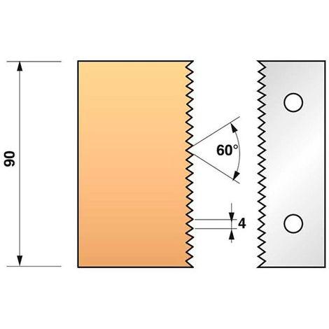 Jeu de 2 fers profilés N°134 pour porte-outils Ht. 90 mm - 955.134 - Leman - -