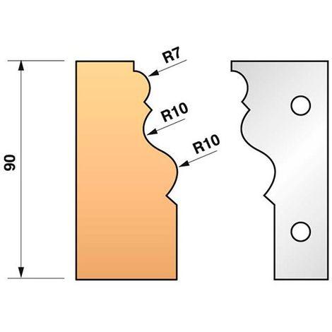 Jeu de 2 fers profilés N°302 pour porte-outils Ht. 90 mm - 955.302 - Leman - -
