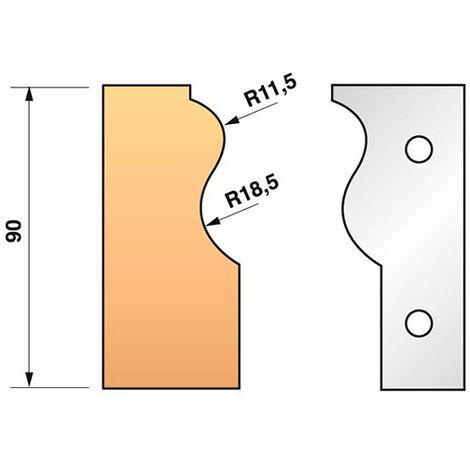Jeu de 2 fers profilés N°303 pour porte-outils Ht. 90 mm - 955.303 - Leman - -