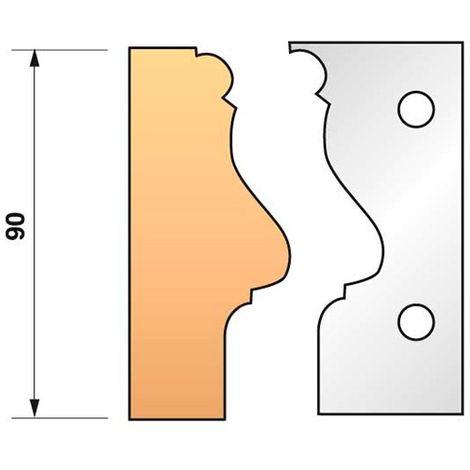 Jeu de 2 fers profilés N°304 pour porte-outils Ht. 90 mm - 955.304 - Leman - -