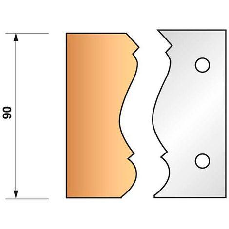 Jeu de 2 fers profilés N°305 pour porte-outils Ht. 90 mm - 955.305 - Leman - -
