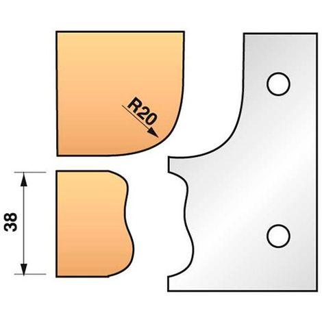 Jeu de 2 fers profilés N°323 pour porte-outils Ht. 90 mm - 955.323 - Leman - -