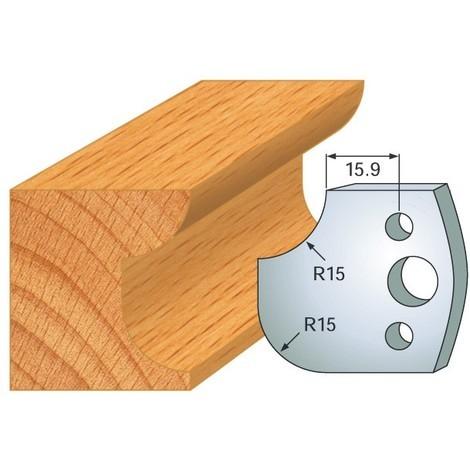 Jeu de 2 fers R 15 mm 800.177