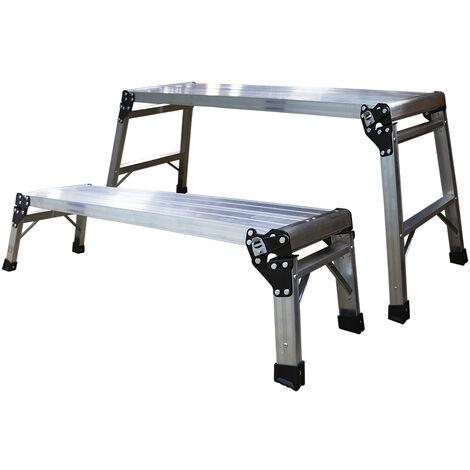 Jeu de 2 plate-forme de travail en aluminium