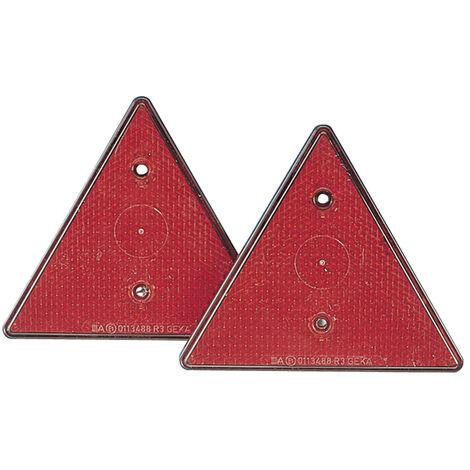 Jeu de 2 réflecteurs triangulaires pour tous types de remorques / accessoires