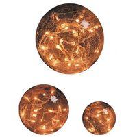 Jeu de 3 boules de verre lumineuses couleur ambre LED blanche 2.4W Ø 200-150-100mm intérieur avec alim 230/24V BLACHERE JFB01LG