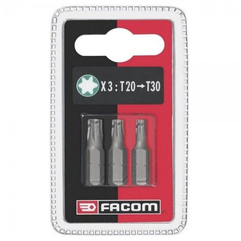 Jeu de 3 embouts vissage standard série 1 - Torx T20 25 30 16.78