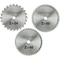 Jeu de 3 lames de scie TCT (24, 48 et 60 dents) - Ø 250 x Ø 30 x 3,0 mm