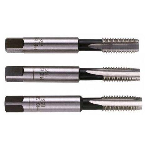 Jeu de 3 tarauds 16 x 2mm ébaucheur, intermédiaire et finisseur 121.01