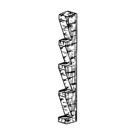 """main image of """"JEU DE 4 CREMAILLERES EN BOIS DE HETRE - DE 75 CM A 200 CM - PAS DE 35MM - ROUX"""""""