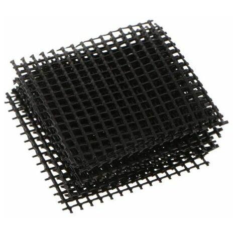 Jeu de 5 grilles de couverture Bonsaï pour trous de drainage, 10.5x10.5cm, à découper sur mesure