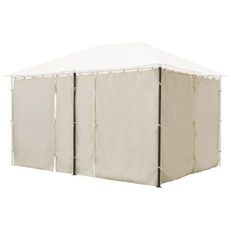 """main image of """"Jeu de 6 rideaux pour la tonnelle Santorini 3 x 4 m Ecru"""""""