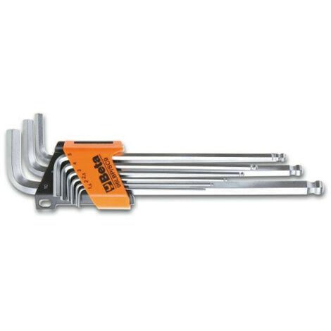 Jeu de 9 clés mâles 6 pans coudées à tête sphérique, modèle extra long000961354