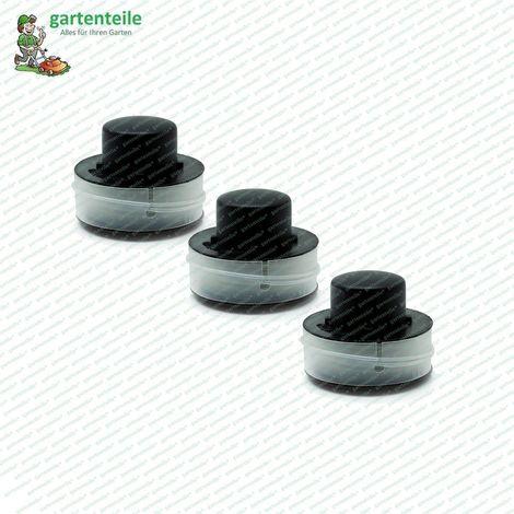 Jeu de bobines de rechange (lot de 3), bobine, bobine de fil, bobine de coupe-fil, bobine de tondeuse à gazon, convient pour tondeuse à gazon Einhell RT 250 D