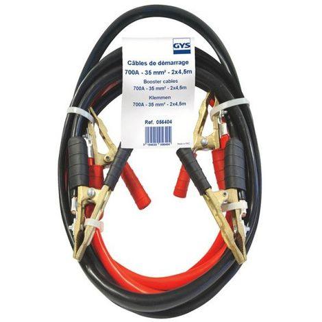 Jeu de cables de démarrage 4.5 mètres 35mm² Gys 700A Pour les PRO