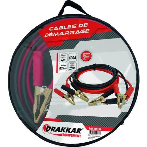 Jeu de cables de démarrage cuivre souple pinces bronze 600 Ampères - S04132