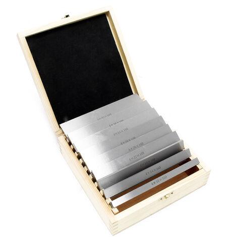 Jeu de cales parallèles 18 pièces 160mm 9 Paires Coffret de cales étalons parallèles en acier Fraisage