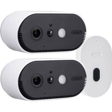 Jeu de caméras de surveillance ABUS Akku Cam PPIC90200 Wi-Fi IP- avec 2 caméras 1920 x 1080 pixels 1 pc(s)
