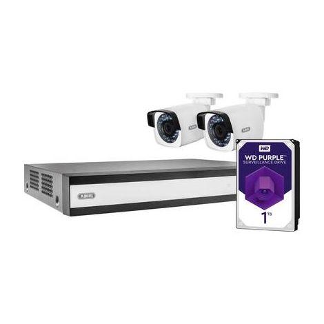 Jeu de caméras de surveillance ABUS TVVR36420T Ethernet, Wi-Fi IP-4 canaux avec 2 caméras 1920 x 1080 pixels 1 To 1 pc(s)