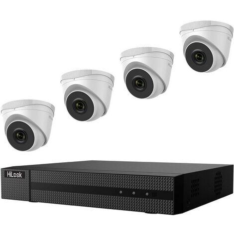 Jeu de caméras de surveillance HiLook IK-4142TH-MH/P hl414t Ethernet IP-4 canaux avec 4 caméras 1920 x 1080 pixels 1 pc