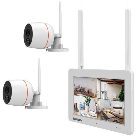 Jeu de caméras de surveillance Inkovideo INKO-EL0206 Wi-Fi IP-4 canaux avec 2 caméras 1920 x 1080 pixels 1 pc(s)