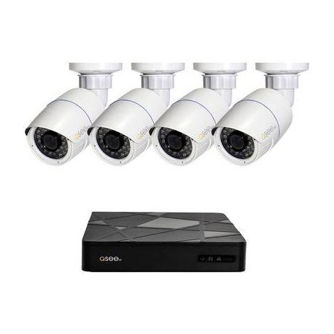 Jeu de caméras de surveillance Q-See QT868-4BC-2 8 canaux avec 4 caméras