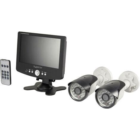 Jeu de caméras de surveillance Sygonix SY-813 SY-3432136 2 canaux avec 2 caméras 652 x 582 pixels 420 TVL 1 pc(s)