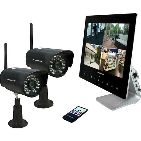 Jeu de caméras de surveillance Thomson 512330 radio avec 2 caméras 1280 x 720 pixels 2.4 GHz 1 pc(s)