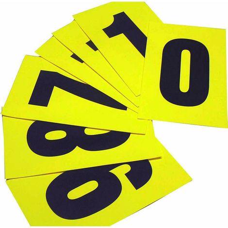 Jeu de caractères - lot de 100 - h x l 230 x 140 mm - chiffres adhésifs 0 – 9, 10 chiffres