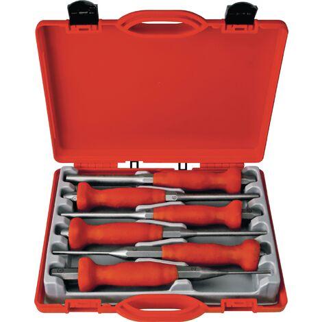 Jeu de chasse-goupilles 6 pièces 2-3-4-5-6-8 mm boîte en plastique