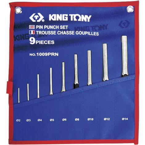 JEU DE CHASSE GOUPILLES KING TONY 9 PIECES DE 2 à 14 mm PRO