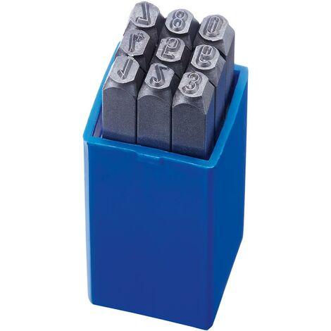 Jeu de chiffres à frapper hauteur caractères 4mm FORMAT 1 PCS