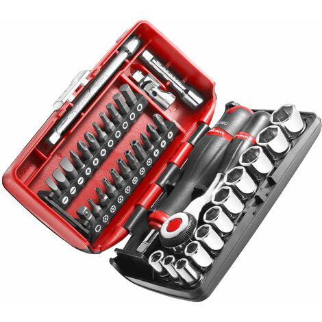 """main image of """"Jeu de clés à cliquet 1/4'' Carré 38 outils FACOM R.360NANOPB"""""""