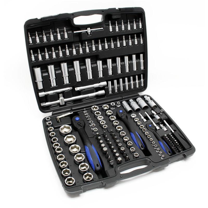 Coffret de clés à cliquets de 94 pièces boîte set jeu compact clés à douilles
