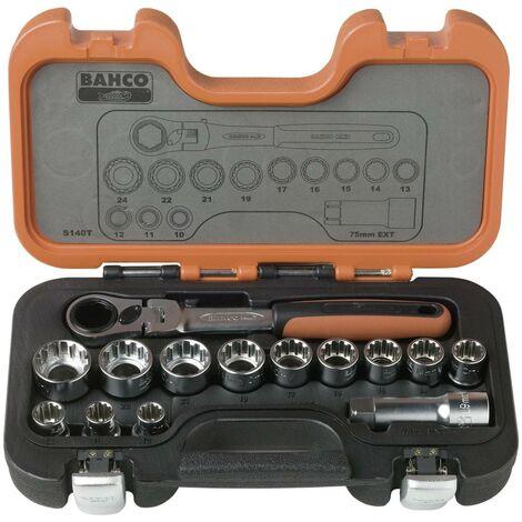 Jeu de clés à douille Bahco 14 pièces S140T X083111