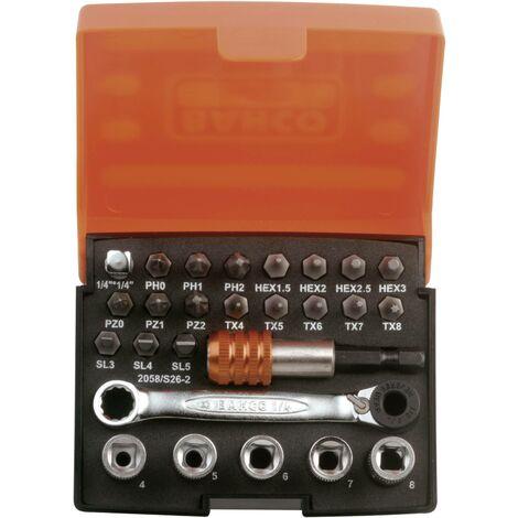 Jeu de clés à douille Bahco 26 pièces 2058/S26-2 X082291