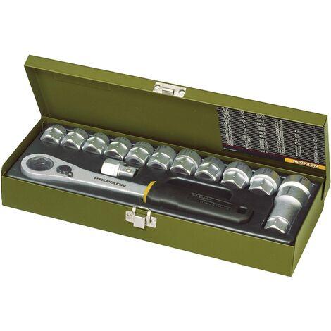 """Jeu de clés à douille Proxxon Industrial métrique 1/2"""" (12.5 mm) 14 pièces 23604 C93649"""