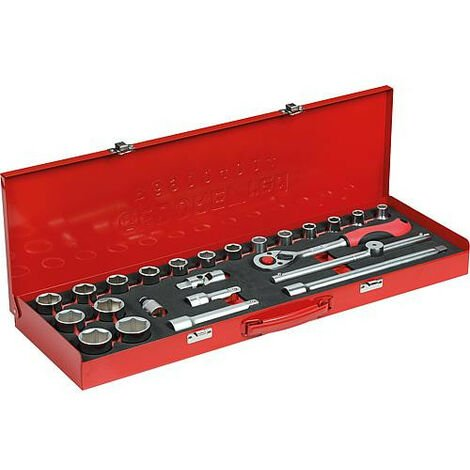 """Jeu de clés à douilles GEDORE red type 5000.00, 1/2"""", 24 pièces"""