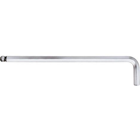 Jeu de clés coudées à 6 pans, à tête sphérique, modèle long, Cote s/plats : 2 mm, Long. des branches 101 x 18 mm
