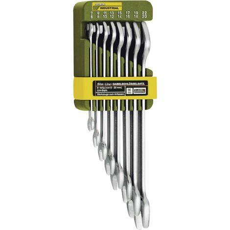 Jeu de clés plates doubles 6 - 22 mm Proxxon Industrial SlimLine 23800 8 pièces DIN 3110, DIN ISO 3318 1 set C58916
