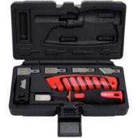 Jeu de couteaux, grattoir et couteau 15 lames droit, 5 obliques, 5 trapèzes KS Tools 907.2200